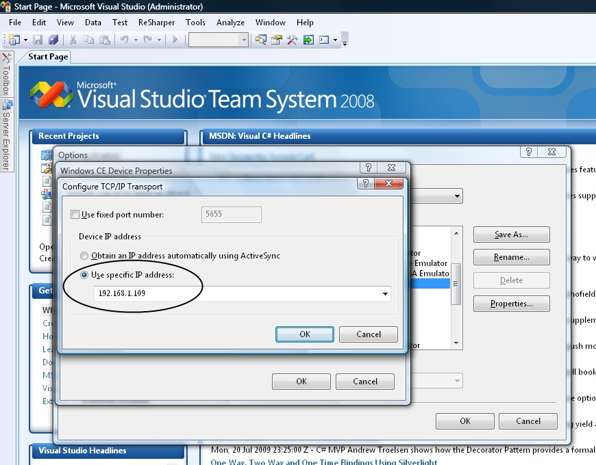 how to make a ip booter in visual studio